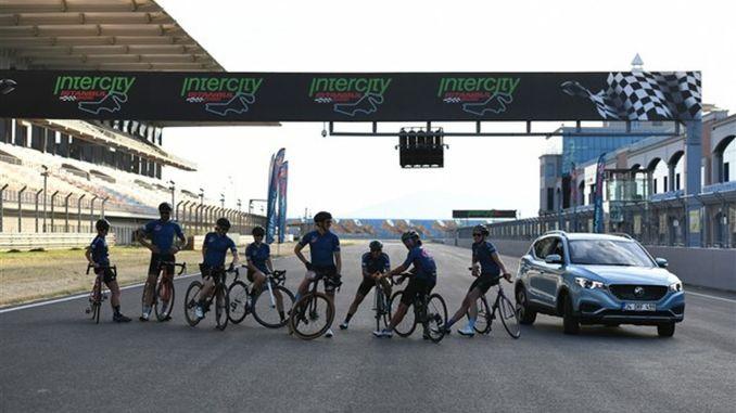 tuli kulta sponsori mg tunnin pyöräily kilpailuissa