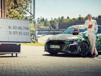 audi rs snabbast i kompaktklass på nurburgring nordschleife