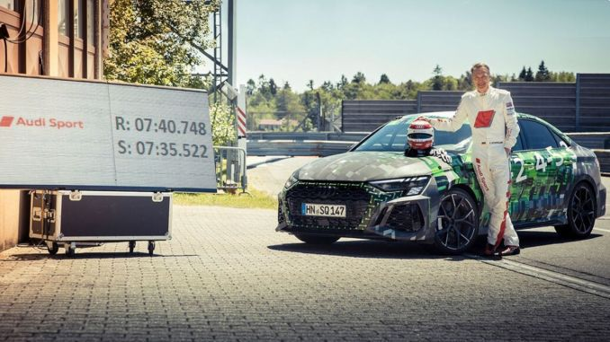 audi rs fastest in compact class at nurburgring nordschleife