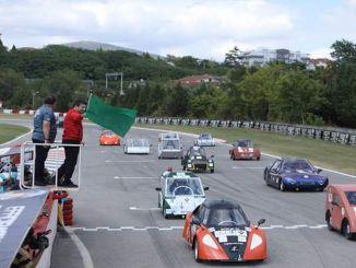 O entusiasmo final foi experimentado nas corridas de veículos elétricos do desafio de eficiência