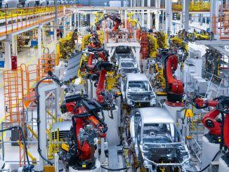 percentuale di produzione nelle esportazioni automobilistiche aumento percentuale