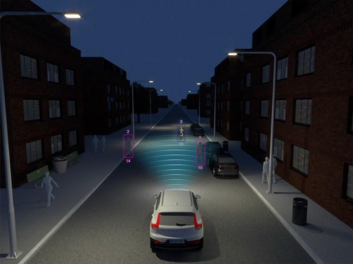 New Volvo XC40 – City Safety Darkness