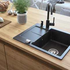 24 Kitchen Sink Appliance Package Zlewozmywak Granitowy Jednokomorowy Z Ociekaczem, Designo ...