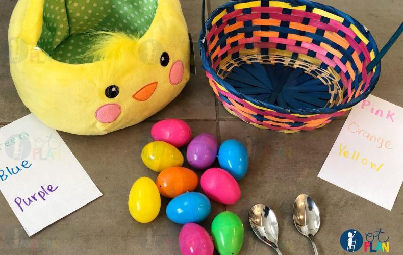 Easter Egg Hunt with Spoons
