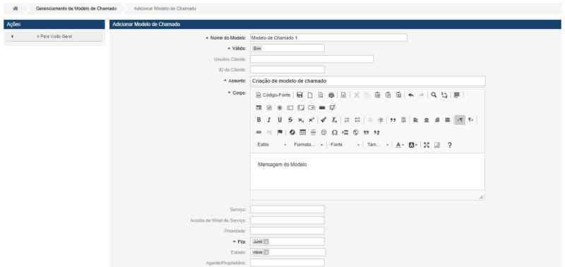 tela módulo Task List
