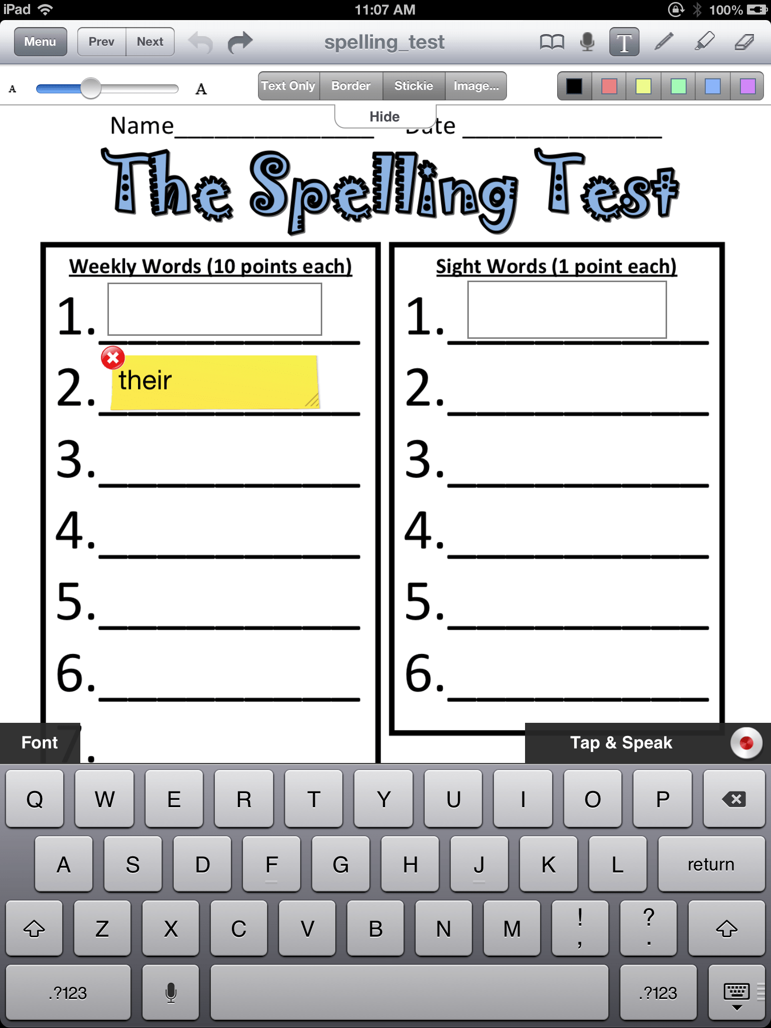 Adapting Worksheets For Students With Poor Handwriting
