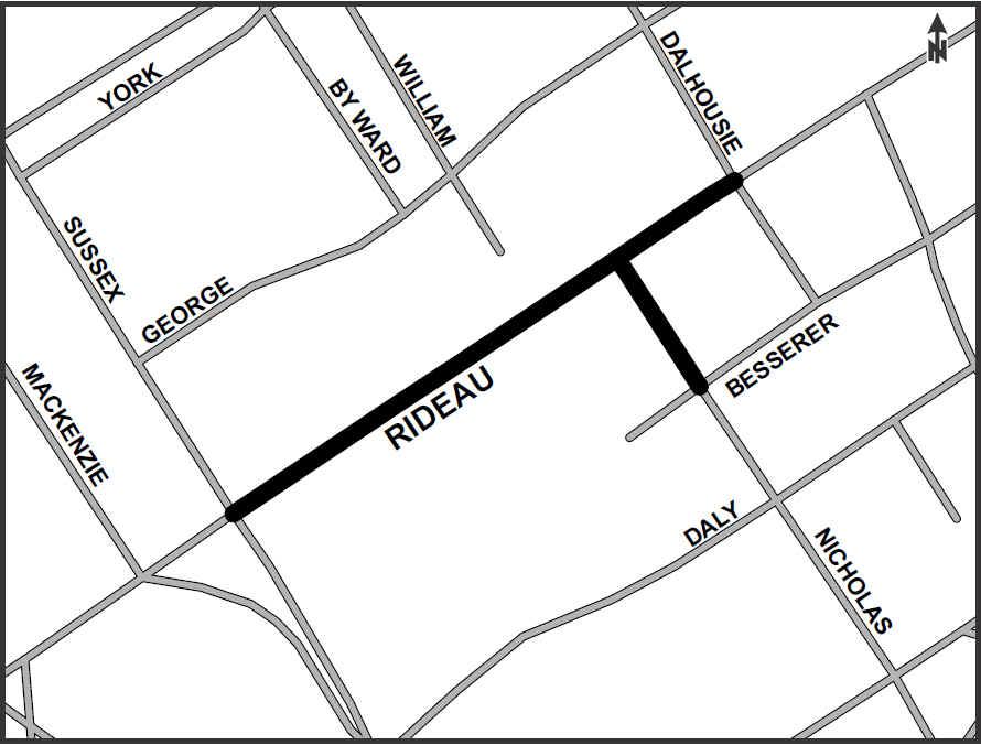 Rideau Street Renewal (Sussex Drive to Dalhousie Street