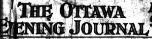Ottawa Evening Journal Masthead, Oct 1, 1925