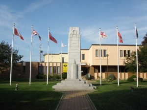 Renfrew World War I Cenotaph, in front of the City Hall in dowtown Renfrew  ON