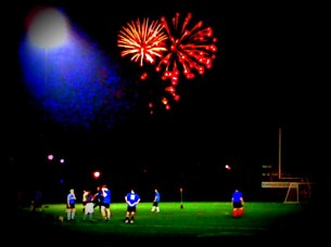 Dows Lake fireworks over Ravens Field