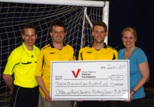 ORCF Cheque Presentation for Kicking Cancer's Butt