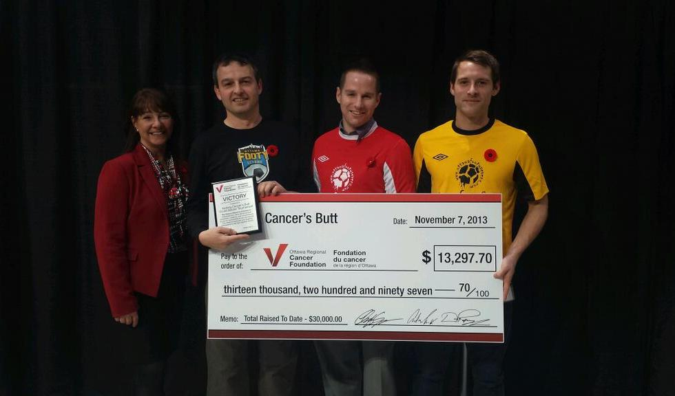 Kicking Cancer's Butt 4 Cheque Presentation