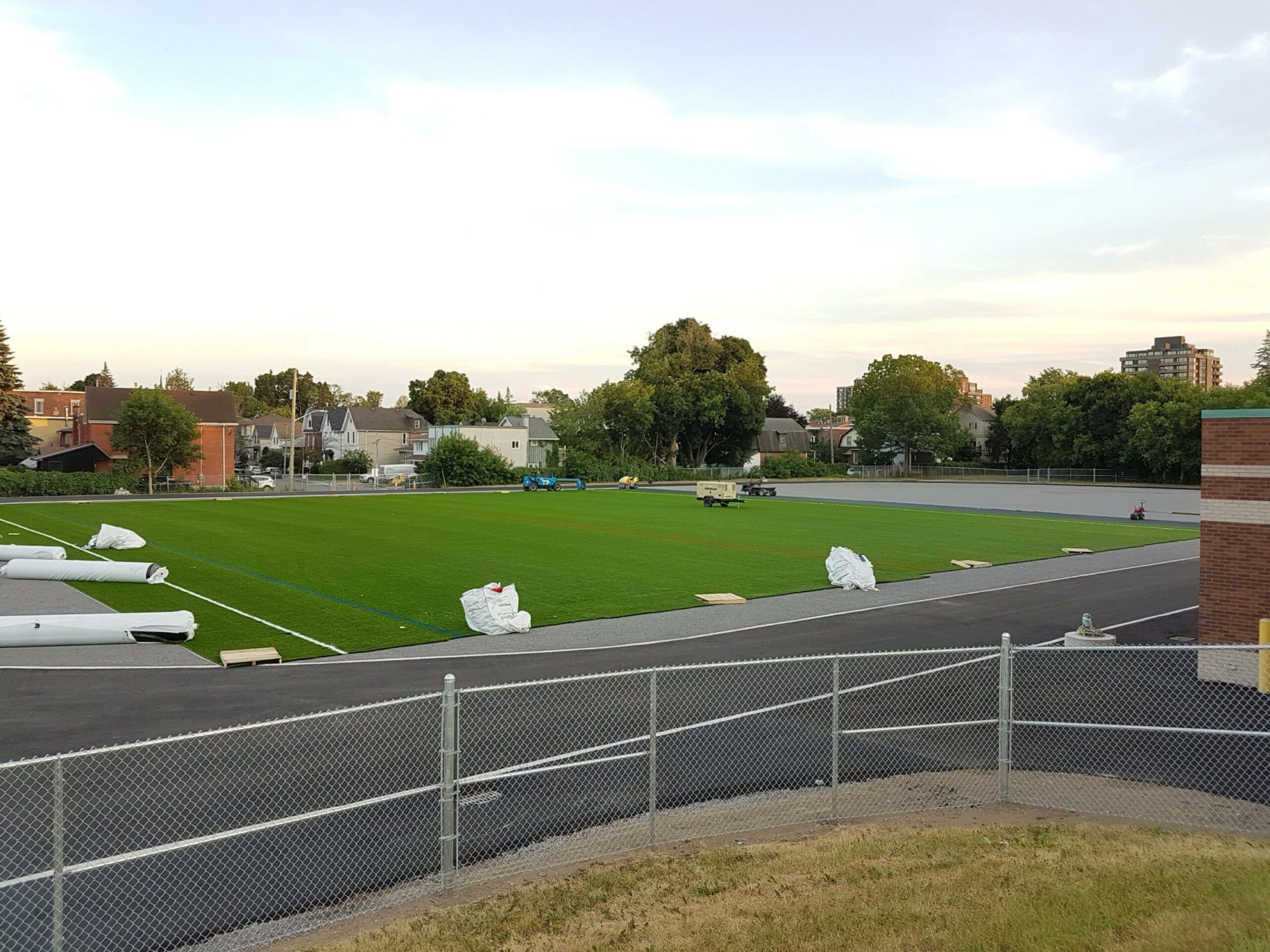 New turf soccer field at Immaculata High School