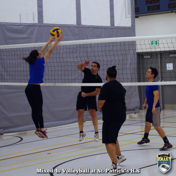 Mixed 4s Volleyball at St. Patrick's High School