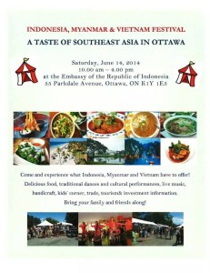 Indonesia, Myanmar, & Vietnam Festival Flyer