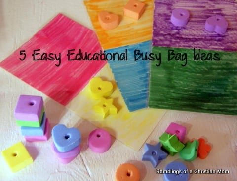5 Easy Educational Busy Bag Ideas