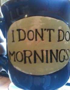 mug: i don't do mornings