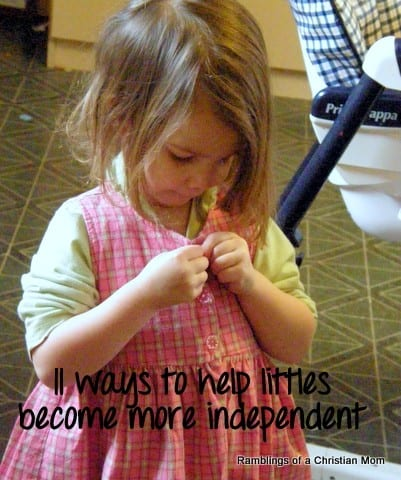 helping kids gain independence