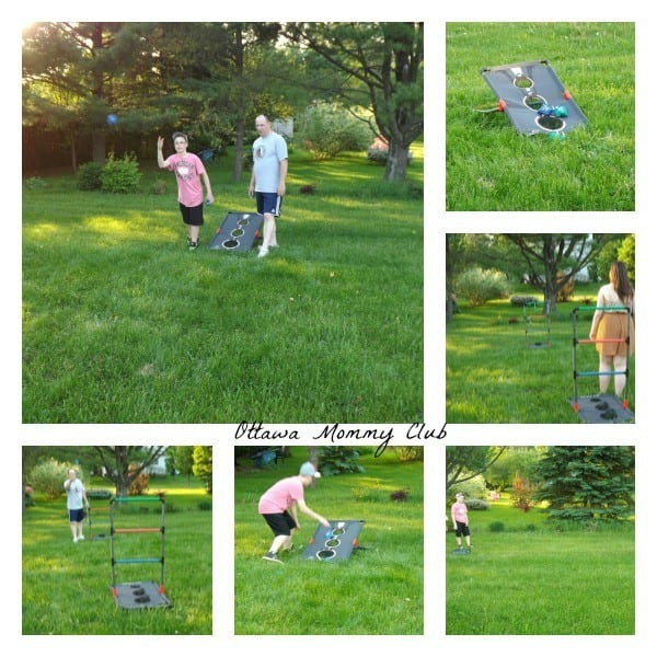 Fun family outdoor games: 3 in 1 tailgate games, Ladderball, Washer and Bean Bag Toss