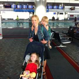 "Elaine and the ""Princesses"" navigate airports with ease."