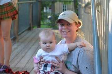 Mary and Mommy post-race (Perth Kilt Run 2012) Photo by Jon Ball