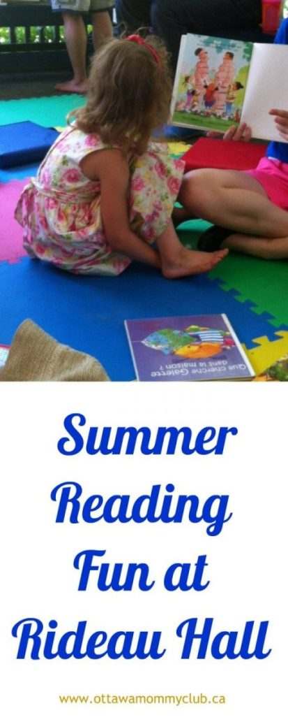 Summer Reading Fun at Rideau Hall