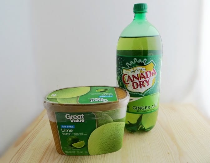Lime Shamrock Punch Ingredients