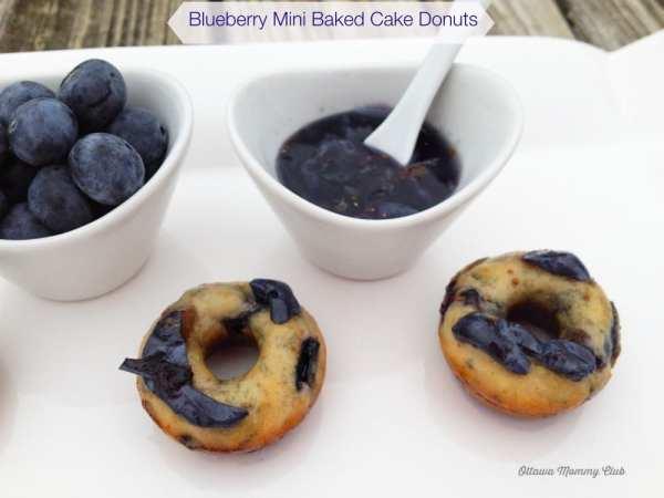 Blueberry Mini Baked Cake Donuts