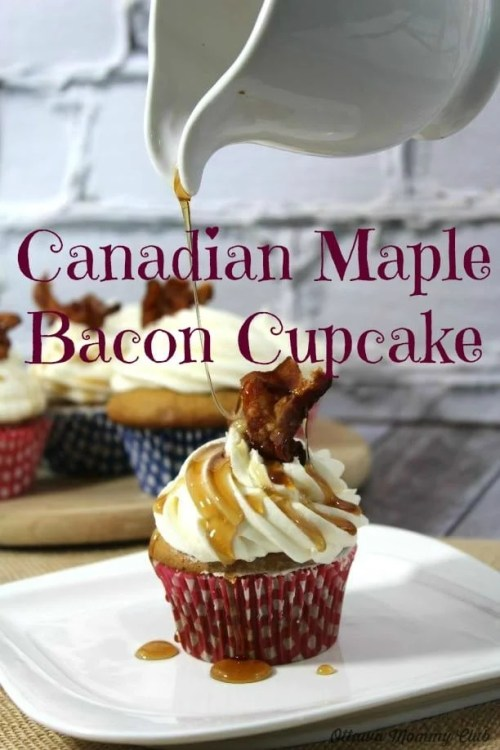 Canadian Maple Bacon Cupcake
