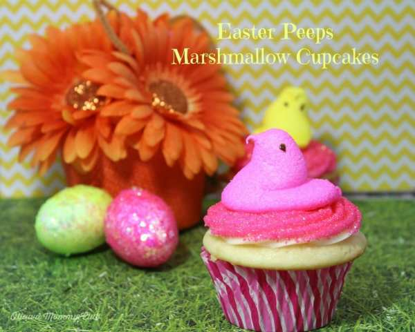Easter Peeps Marshmallow Cupcakes Recipe