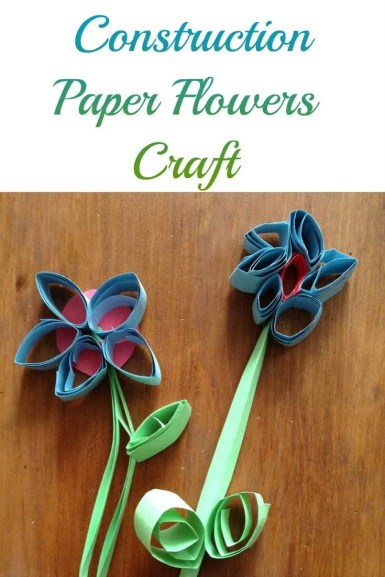 Construction Paper Flowers Craft