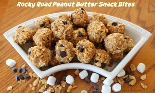Rocky Road Peanut Butter Snack Bites Recipe