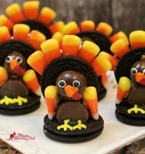 Thanksgiving Oreo Turkey Cookies 2
