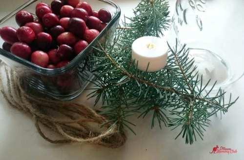Super Easy Mason Jar Christmas Candle DIY material