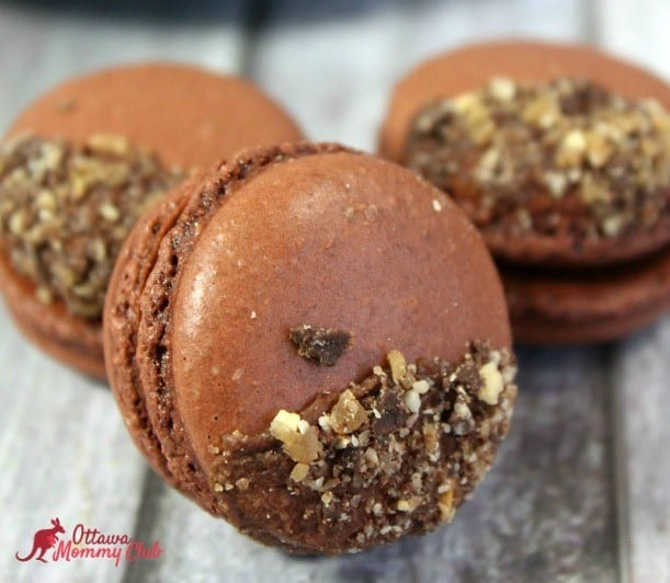 French Chocolate Macarons with Toffee recipe