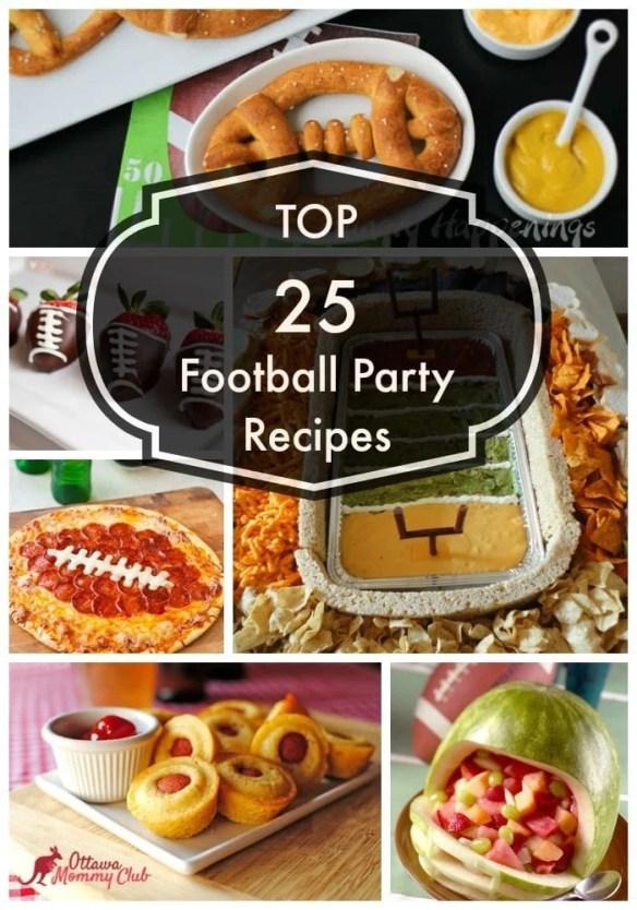 Top 25 football party recipes