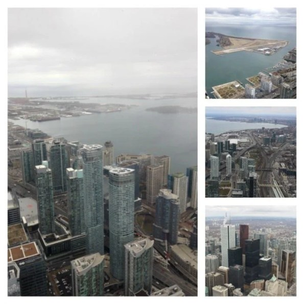 View from 360 The Restaurant CN Tower