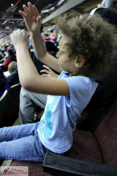 Ottawa Mommy Club Harlem Globetrotters Enjoying The Game Photo