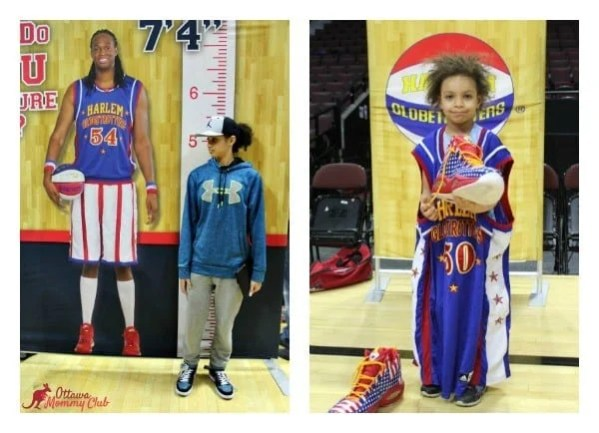 Ottawa Mommy Club Harlem Globetrotters Pre-Game Collage Photo