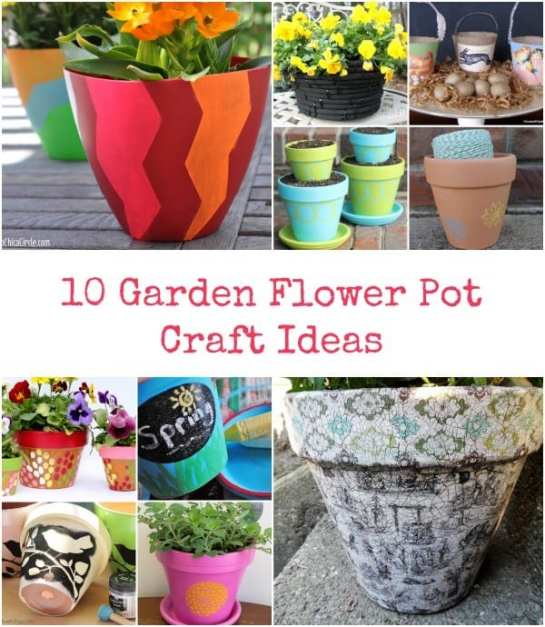 10 Garden Flower Pot Craft Ideas 2