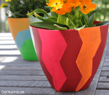 Design Your Own Spring Planters With Frogtape Chevron