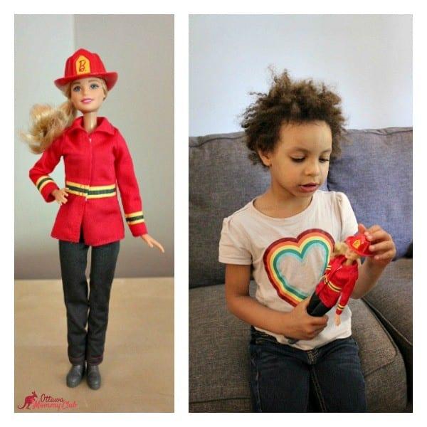 Ottawa Mommy Club Firefighter Barbie Maya Collage Photo