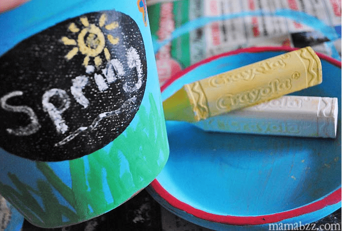 Spring Flower Pot Crayola Craft