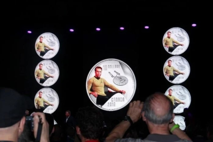 William Shatner unveiled the Royal Canadian Mint's $10 silver coloured coin