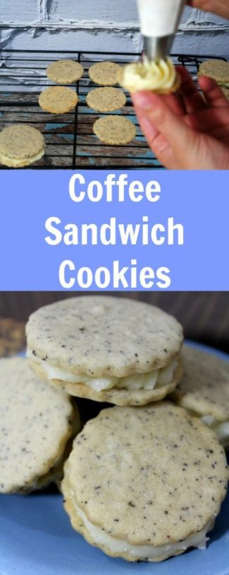 Delectable Coffee Sandwich Cookies‏ Recipe