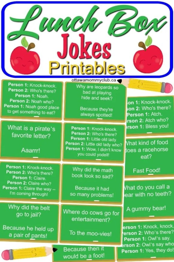 Lunch Box Jokes Printables
