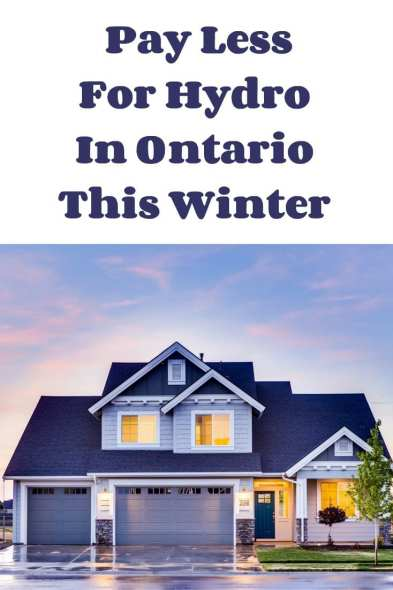 Pay Less For Hydro In Ontario This Winter