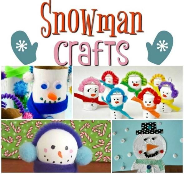 17 Snowman Crafts for Kids