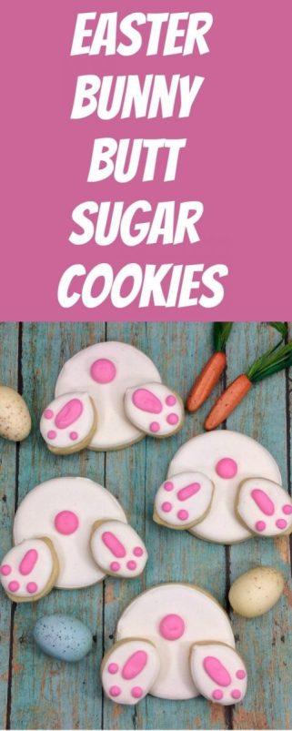 Easter Bunny Butt Sugar Cookies Recipe