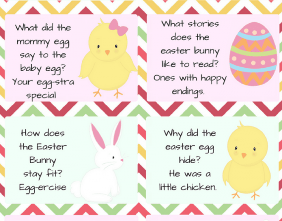 Easter Lunchbox Jokes For Kids